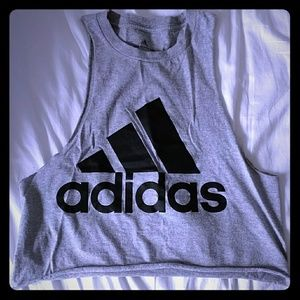 Cute cropped Adidas muscle shirt